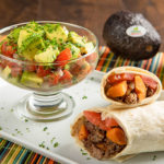 Sweet Potato and Turkey Burrito with Avocado Pico de Gallo