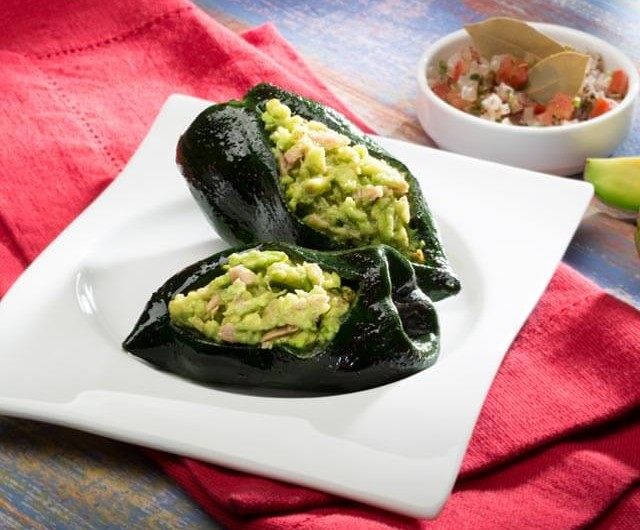 Avocado and Tuna Stuffed Peppers
