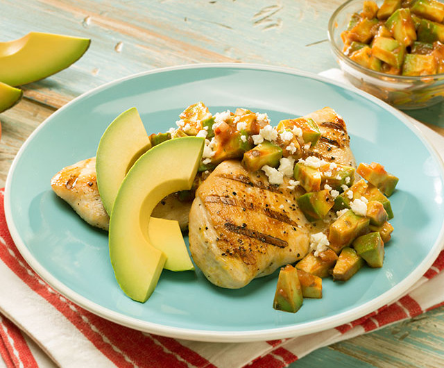 Grilled Chicken with Avocado and Chipotle Sauce