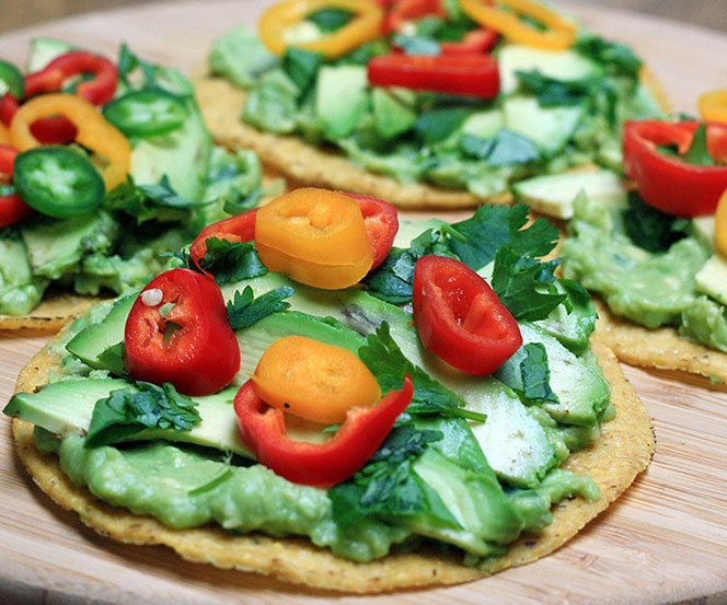 SPICY AVOCADO TOSTADA RECIPE