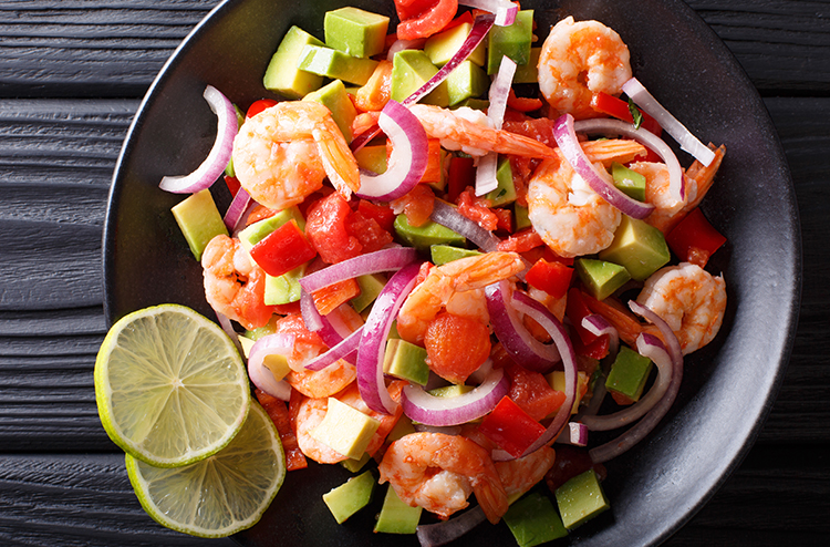 Shrimp Ceviche with Mexican Flair