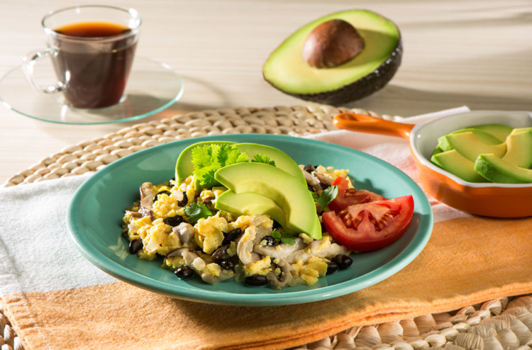 Stay Warm with an Avocado-Topped Breakfast Scramble